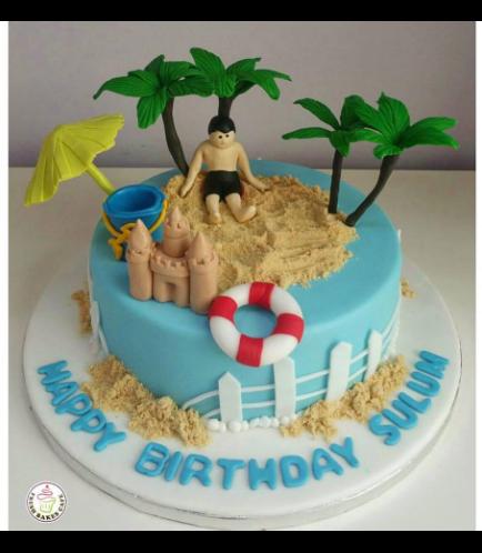 Beach Themed Cake 07
