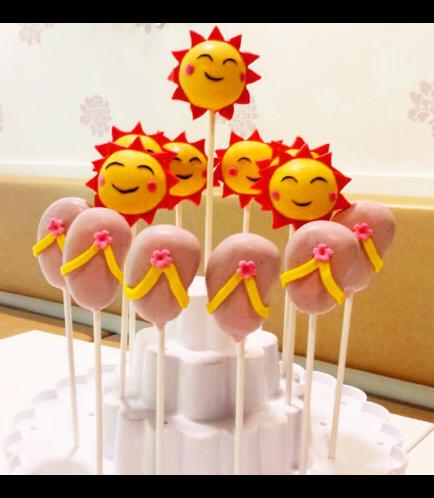 Beach Themed Cake Pops