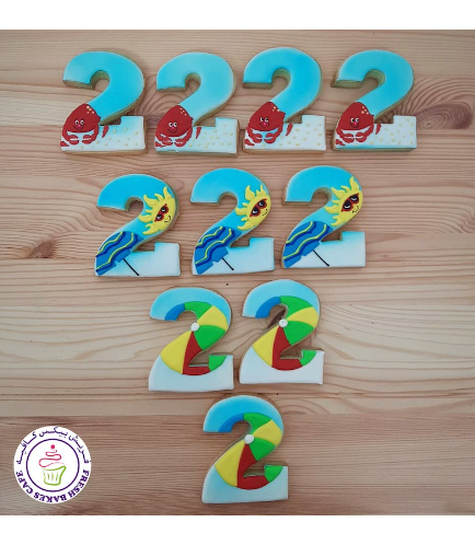 Beach Themed Cookies - Number 02