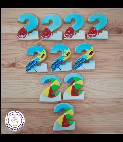 Cookies - Birthday Numbers - Beach