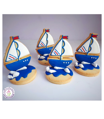 Sailboat Themed Cookies