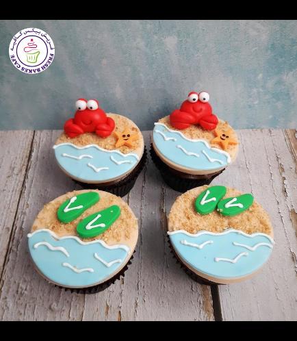 Beach Themed Cupcakes 03