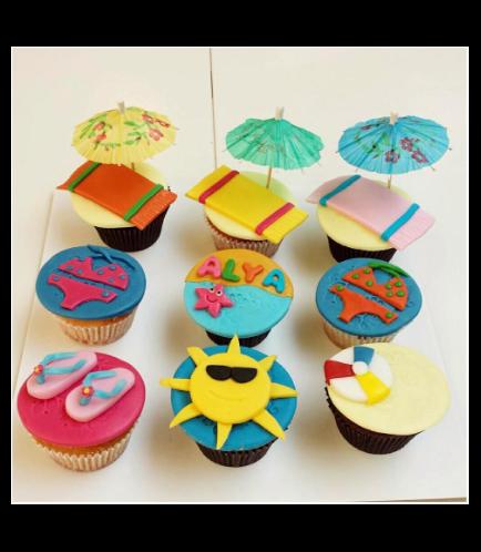Beach Themed Cupcakes 01