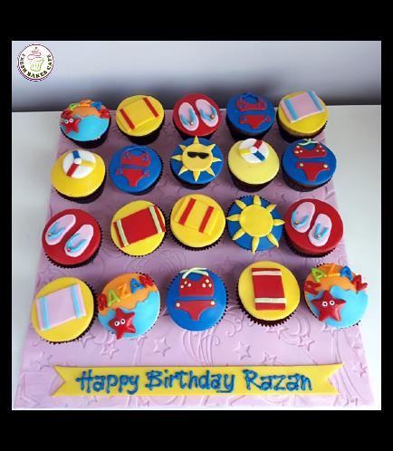 Beach Themed Cupcakes 02