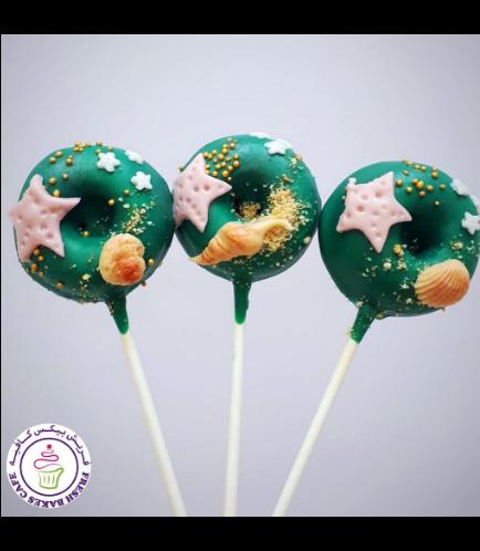 Beach Themed Donut Pops
