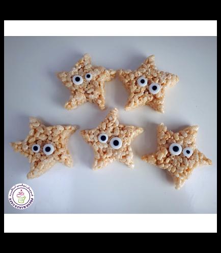 Starfish Themed Krispie Treats