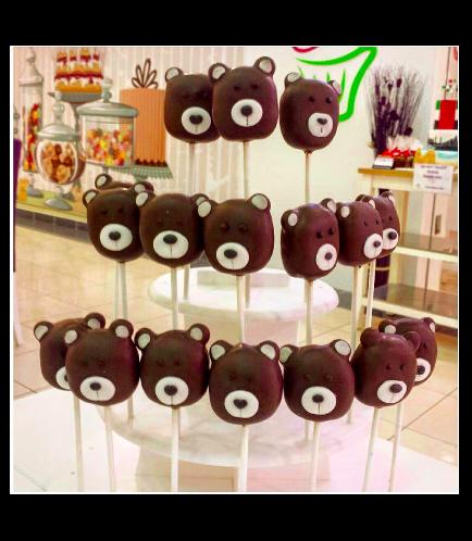 Bear Themed Cake Pops 1