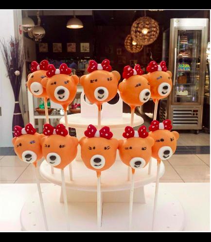 Bear Themed Cake Pops 2