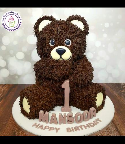 Bear Themed Cake - 3D Cake - Cream Cake