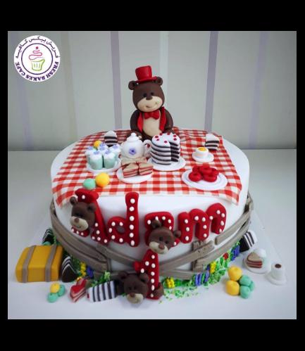 Cake - Bear - 3D Cake Topper - 1 Tier 01