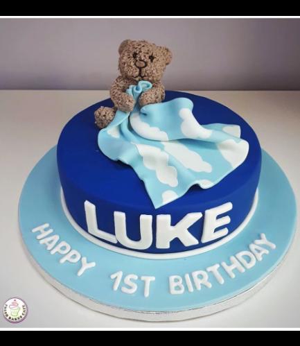 Bear Themed Cake - 3D Cake Topper - 1 Tier 07