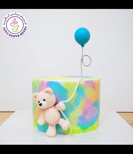 Bear Themed Cake - 3D Cake Topper - 1 Tier 08