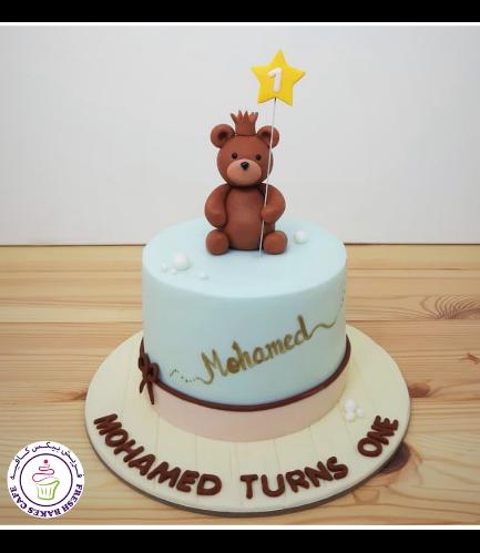 Bear Themed Cake - 3D Cake Topper - 1 Tier 09
