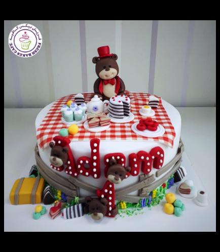 Bear Themed Cake - 3D Cake Topper - 1 Tier 05