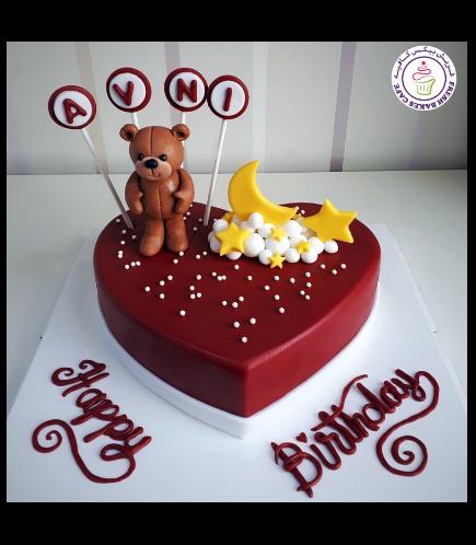 Bear Themed Cake - 3D Cake Topper - 1 Tier 06