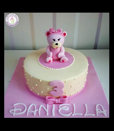 Bear Themed Cake - 3D Cake Topper - 1 Tier 04