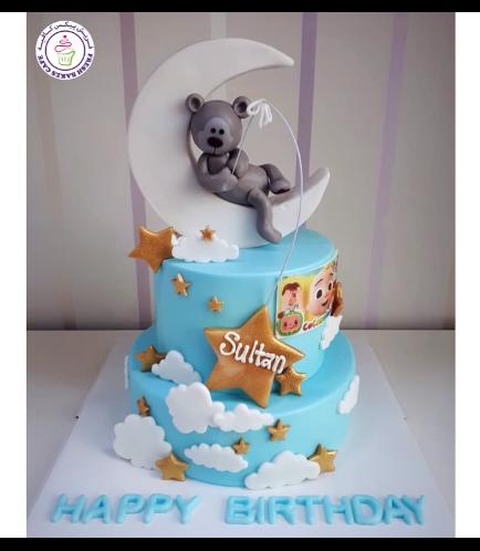 Bear Themed Cake - 3D Cake Topper - 2 Tier