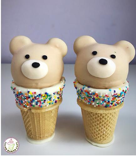 Bear Themed Cone Cake Pops