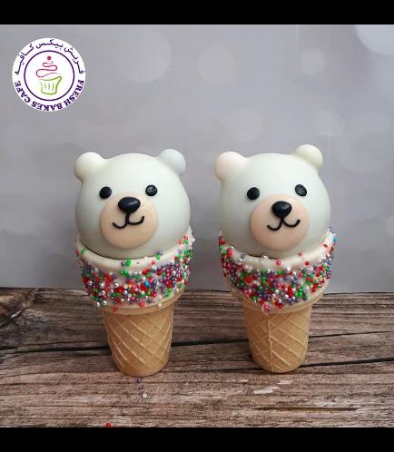 Bear Themed Cone Cake Pops 05