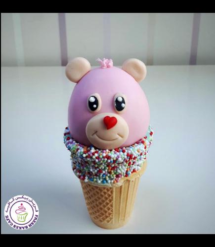 Bear Themed Cone Cake Pops 02