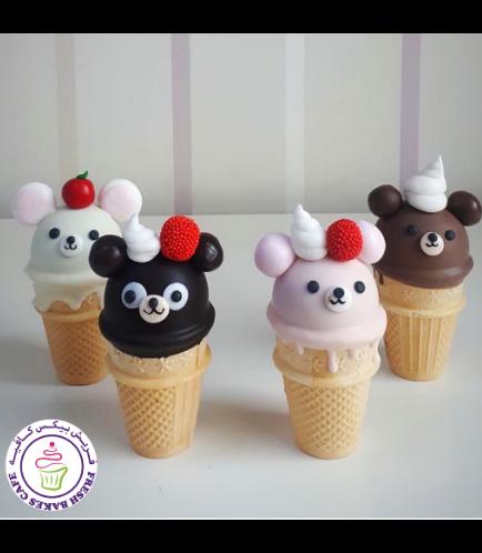 Bear Themed Cone Cake Pops 03