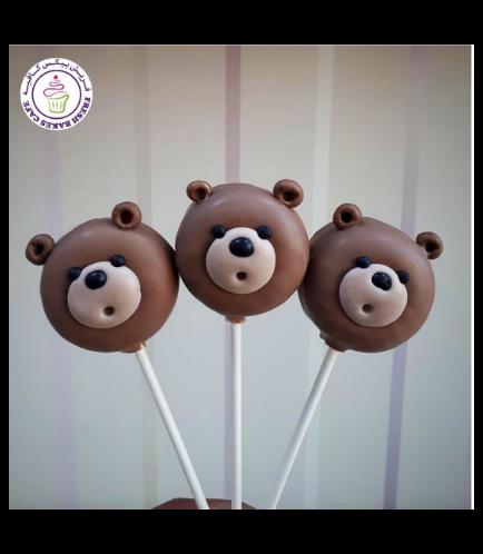 Bear Themed Donut Pops 01b