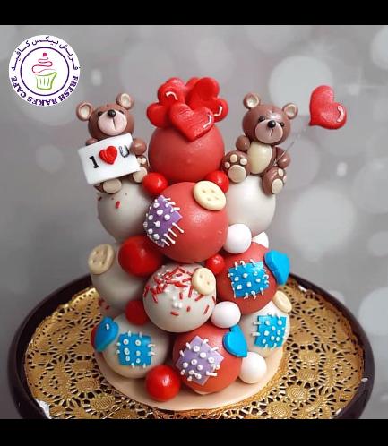 Cake Pops Tower - Bears - Red
