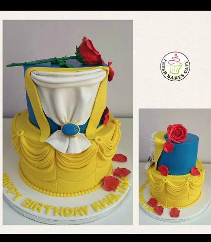 Beauty & the Beast Themed Cake 04