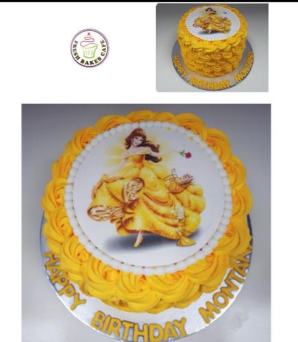 Beauty & the Beast Themed Cake 07