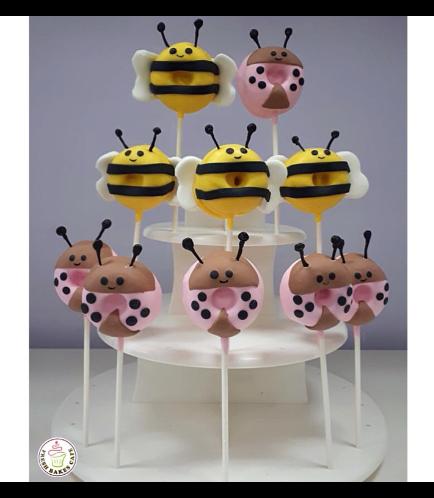 Bee & Ladybug Themed Donuts on Sticks