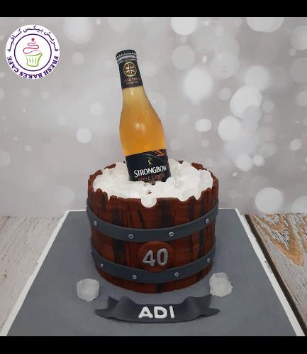 Beer Themed Cake - Beer Bottle - 3D Cake Topper 02