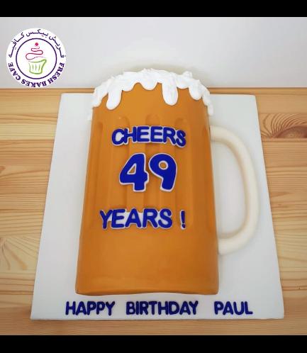 Beer Themed Cake - Beer Mug - 2D Cake