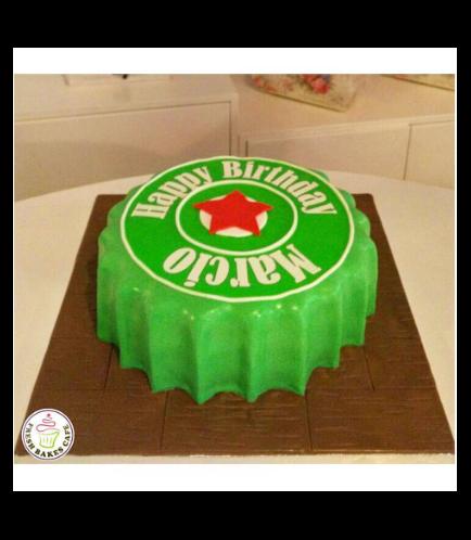 Beer Themed Cake - Beer Cap - 3D Cake