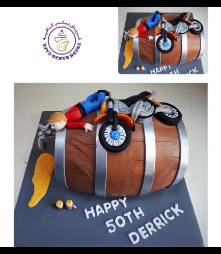 Beer Themed Cake - Beer Barrel - 3D Cake