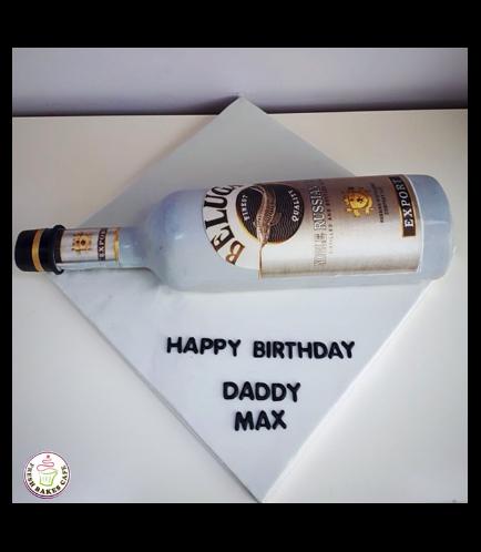 Beluga Vodka Themed Cake
