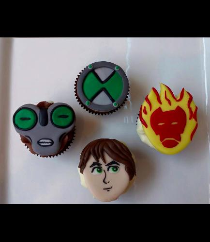 Ben 10 Themed Cupcakes