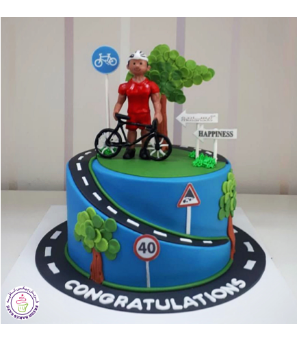 Bicycle Themed Cake 03
