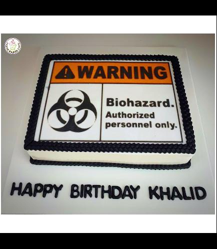 Biohazard Themed Cake