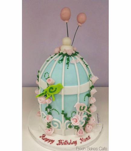Birdcage Themed Cake 2