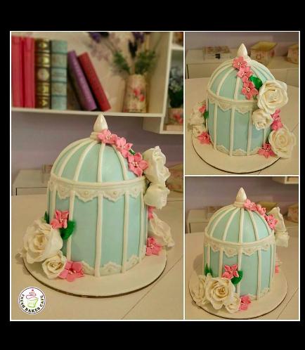 Birdcage Themed Cake 4
