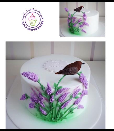 Cake - Lavender & Bird
