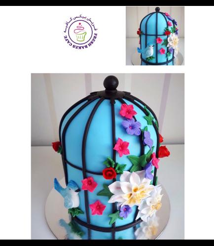 Birdcage Themed Cake 5