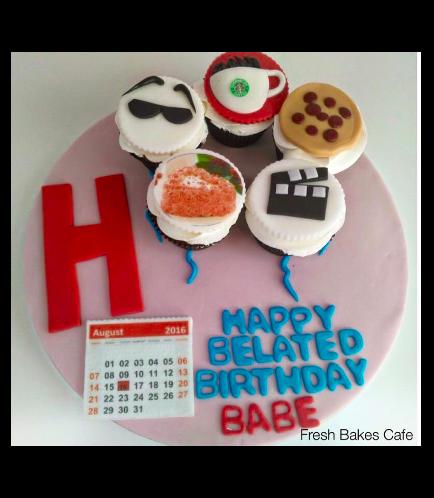 Birthday Calendar Themed Cupcakes