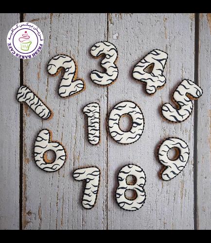 Zebra Themed Cookies - Birthday Numbers