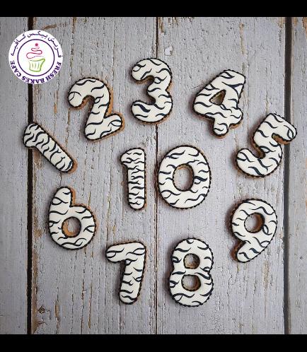 Cookies - Birthday Numbers - Animal Print - Zebra