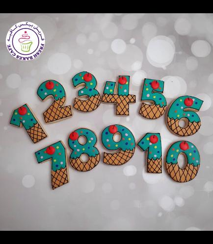 Cookies - Birthday Numbers - Ice Cream