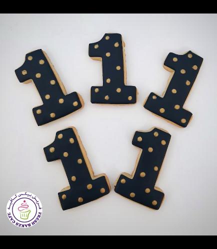 Cookies - Birthday Numbers - Polka Dots 02
