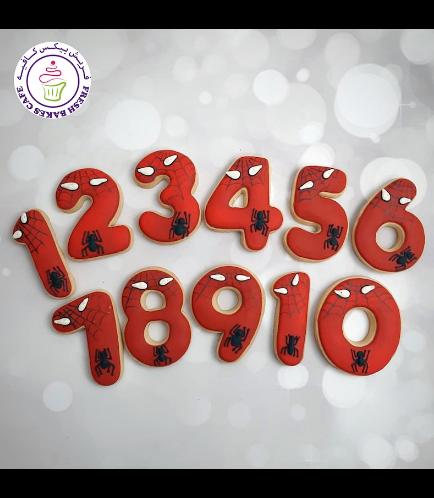 Cookies - Birthday Numbers - Spider-Man