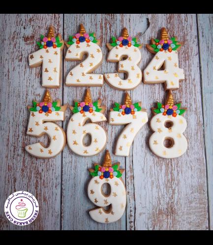Cookies - Unicorn Birthday Number 01