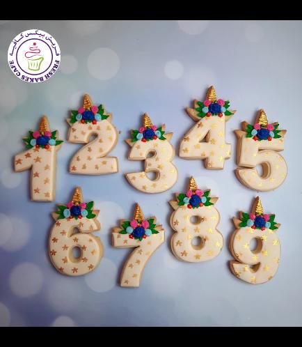 Cookies - Birthday Numbers - Unicorn 01